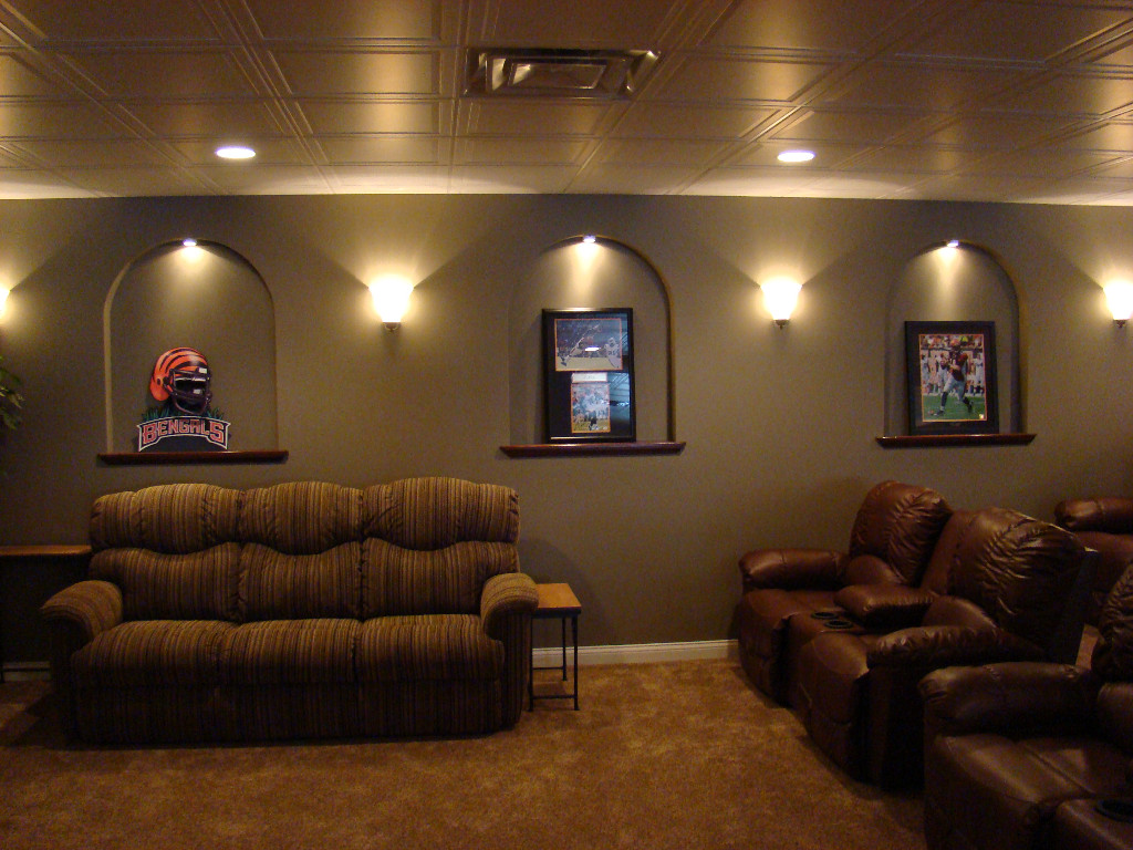 Home theaters image gallery for Basement home theater plans