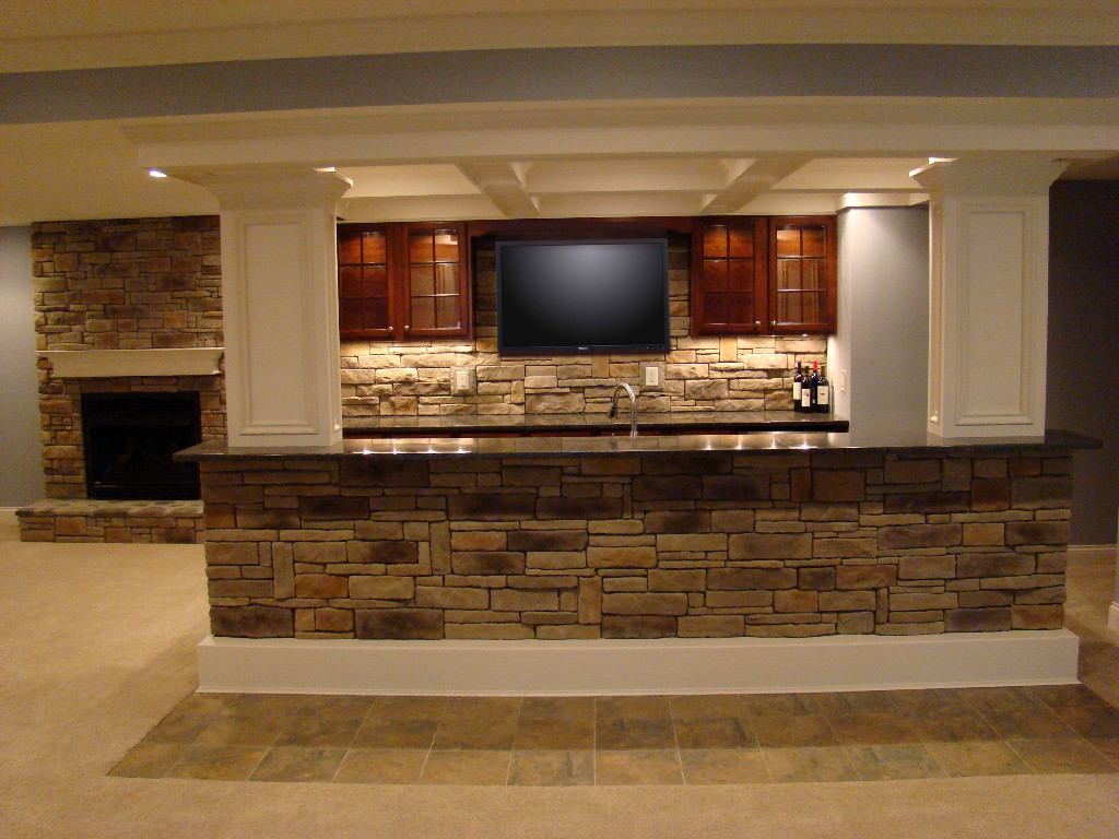 The finished basement gallery - Basement kitchen and bar ideas ...