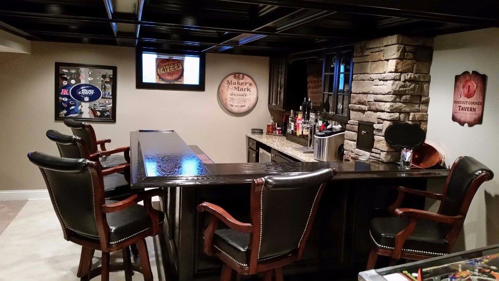 Finished Basement Bars Stunning The Finished Basement Gallery Design Decoration